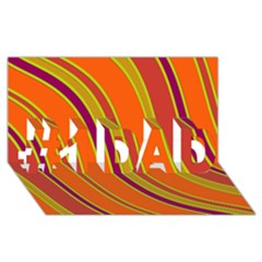 Orange Lines #1 Dad 3d Greeting Card (8x4)