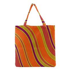 Orange Lines Grocery Tote Bag by Valentinaart