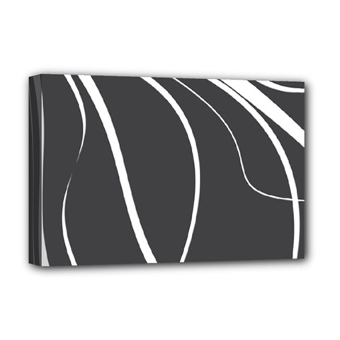 Black And White Elegant Design Deluxe Canvas 18  X 12   by Valentinaart
