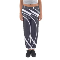 Black And White Elegant Design Women s Jogger Sweatpants by Valentinaart