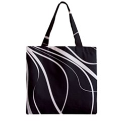 Black And White Elegant Design Zipper Grocery Tote Bag by Valentinaart