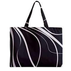 Black And White Elegant Design Zipper Mini Tote Bag by Valentinaart