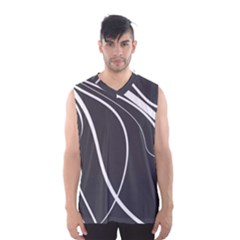 Black And White Elegant Design Men s Basketball Tank Top by Valentinaart