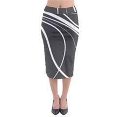 Black And White Elegant Design Midi Pencil Skirt by Valentinaart