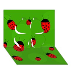 Ladybugs Clover 3d Greeting Card (7x5)  by Valentinaart
