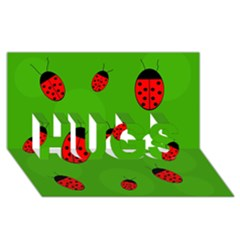 Ladybugs Hugs 3d Greeting Card (8x4)  by Valentinaart