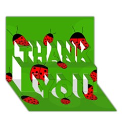 Ladybugs Thank You 3d Greeting Card (7x5)  by Valentinaart