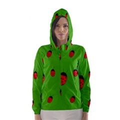 Ladybugs Hooded Wind Breaker (women) by Valentinaart