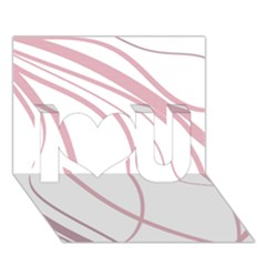 Pink Elegant Lines I Love You 3d Greeting Card (7x5)  by Valentinaart