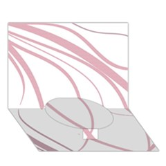 Pink Elegant Lines Circle Bottom 3d Greeting Card (7x5)  by Valentinaart