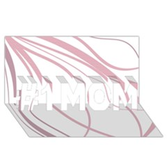 Pink Elegant Lines #1 Mom 3d Greeting Cards (8x4)  by Valentinaart
