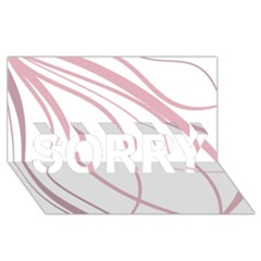 Pink Elegant Lines Sorry 3d Greeting Card (8x4)  by Valentinaart