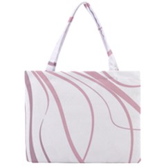 Pink Elegant Lines Mini Tote Bag by Valentinaart
