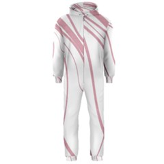 Pink Elegant Lines Hooded Jumpsuit (men)  by Valentinaart