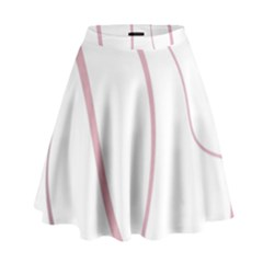 Pink Elegant Lines High Waist Skirt by Valentinaart