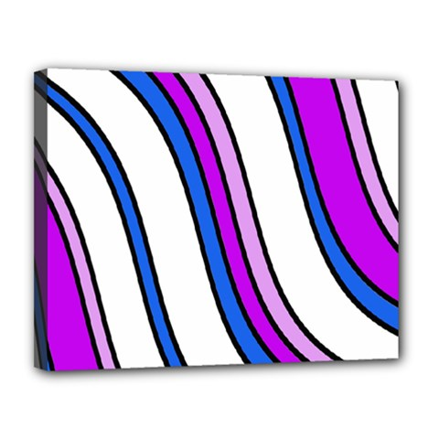 Purple Lines Canvas 14  X 11  by Valentinaart