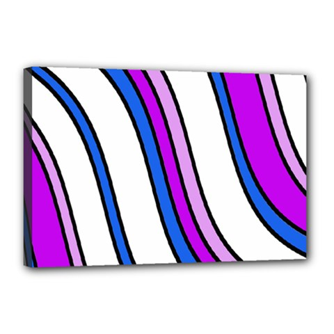 Purple Lines Canvas 18  X 12  by Valentinaart