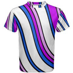 Purple Lines Men s Cotton Tee by Valentinaart