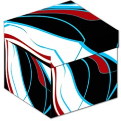Blue, Red, Black And White Design Storage Stool 12   by Valentinaart