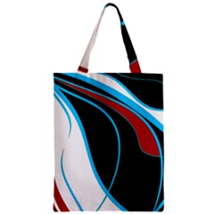 Blue, Red, Black And White Design Classic Tote Bag by Valentinaart