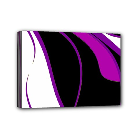 Purple Elegant Lines Mini Canvas 7  X 5  by Valentinaart