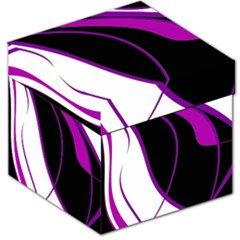 Purple Elegant Lines Storage Stool 12   by Valentinaart