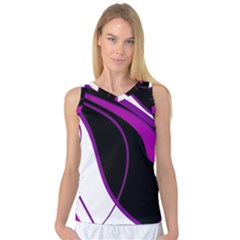 Purple Elegant Lines Women s Basketball Tank Top by Valentinaart