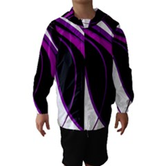 Purple Elegant Lines Hooded Wind Breaker (kids) by Valentinaart