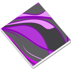 Purple Elegant Lines Small Memo Pads by Valentinaart