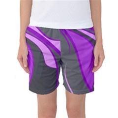 Purple Elegant Lines Women s Basketball Shorts by Valentinaart