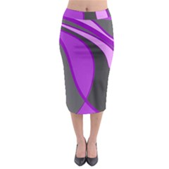Purple Elegant Lines Midi Pencil Skirt by Valentinaart