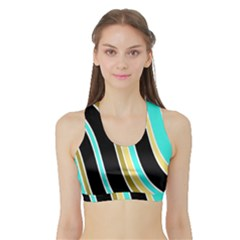 Elegant Lines Sports Bra With Border by Valentinaart