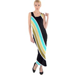 Elegant Lines Fitted Maxi Dress by Valentinaart