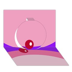 Decorative Abstraction Circle 3d Greeting Card (7x5)  by Valentinaart