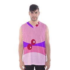 Decorative Abstraction Men s Basketball Tank Top by Valentinaart