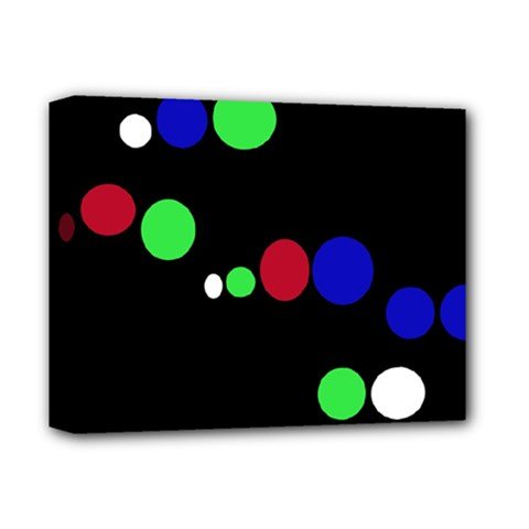 Colorful Dots Deluxe Canvas 14  X 11  by Valentinaart