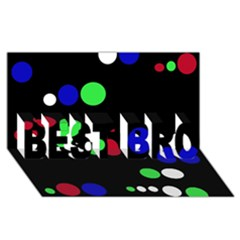 Colorful Dots Best Bro 3d Greeting Card (8x4)