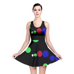 Colorful Dots Reversible Skater Dress by Valentinaart