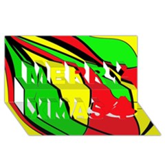 Colors Of Jamaica Merry Xmas 3d Greeting Card (8x4)
