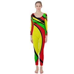 Colors Of Jamaica Long Sleeve Catsuit by Valentinaart