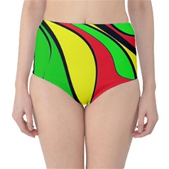 Colors Of Jamaica High-waist Bikini Bottoms by Valentinaart