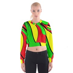 Colors Of Jamaica Women s Cropped Sweatshirt by Valentinaart