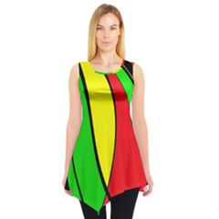 Colors Of Jamaica Sleeveless Tunic by Valentinaart