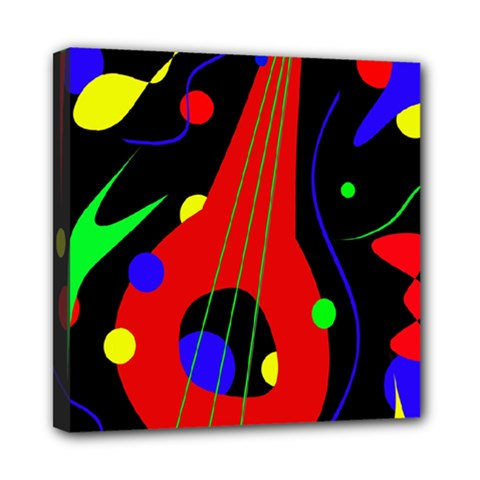 Abstract Guitar  Mini Canvas 8  X 8  by Valentinaart
