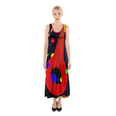 Abstract Guitar  Sleeveless Maxi Dress by Valentinaart