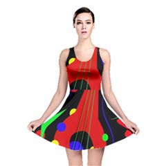 Abstract Guitar  Reversible Skater Dress by Valentinaart