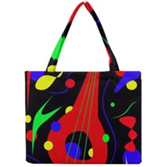Abstract Guitar  Mini Tote Bag by Valentinaart