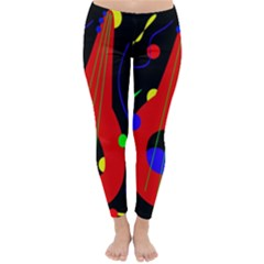 Abstract Guitar  Winter Leggings  by Valentinaart
