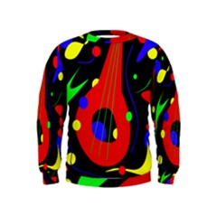 Abstract Guitar  Kids  Sweatshirt by Valentinaart