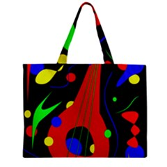 Abstract Guitar  Zipper Mini Tote Bag by Valentinaart